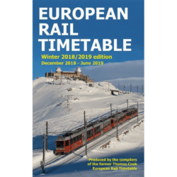 European Rail Timetable Winter 2018/2019